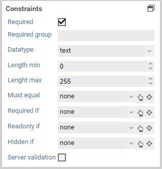 Input field - FORMCYCLE Wiki